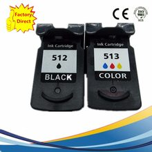PG 512 XL PG512 CL 513 CL513 Ink Cartridges Remanufactured For Canon Pixma IP2700 IP2702 MP240 MP250 MP252 MP260