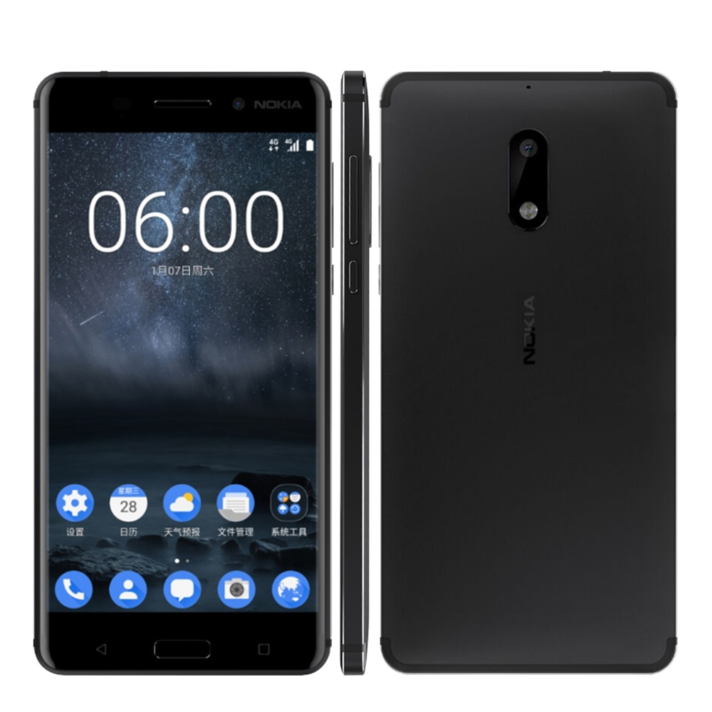 Image 4 - 2017 Unlocked Nokia 6 LTE 4G Mobile Phone Android 7 Qualcomm Octa Core 5.5'' Fingerprint 4G RAM 64G ROM 3000mAh 16MP Nokia6-in Cellphones from Cellphones & Telecommunications