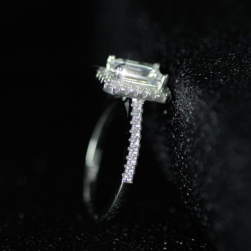 925 anillos de bodas de Compromiso de Plata Esterlina para Las - Bisutería - foto 5