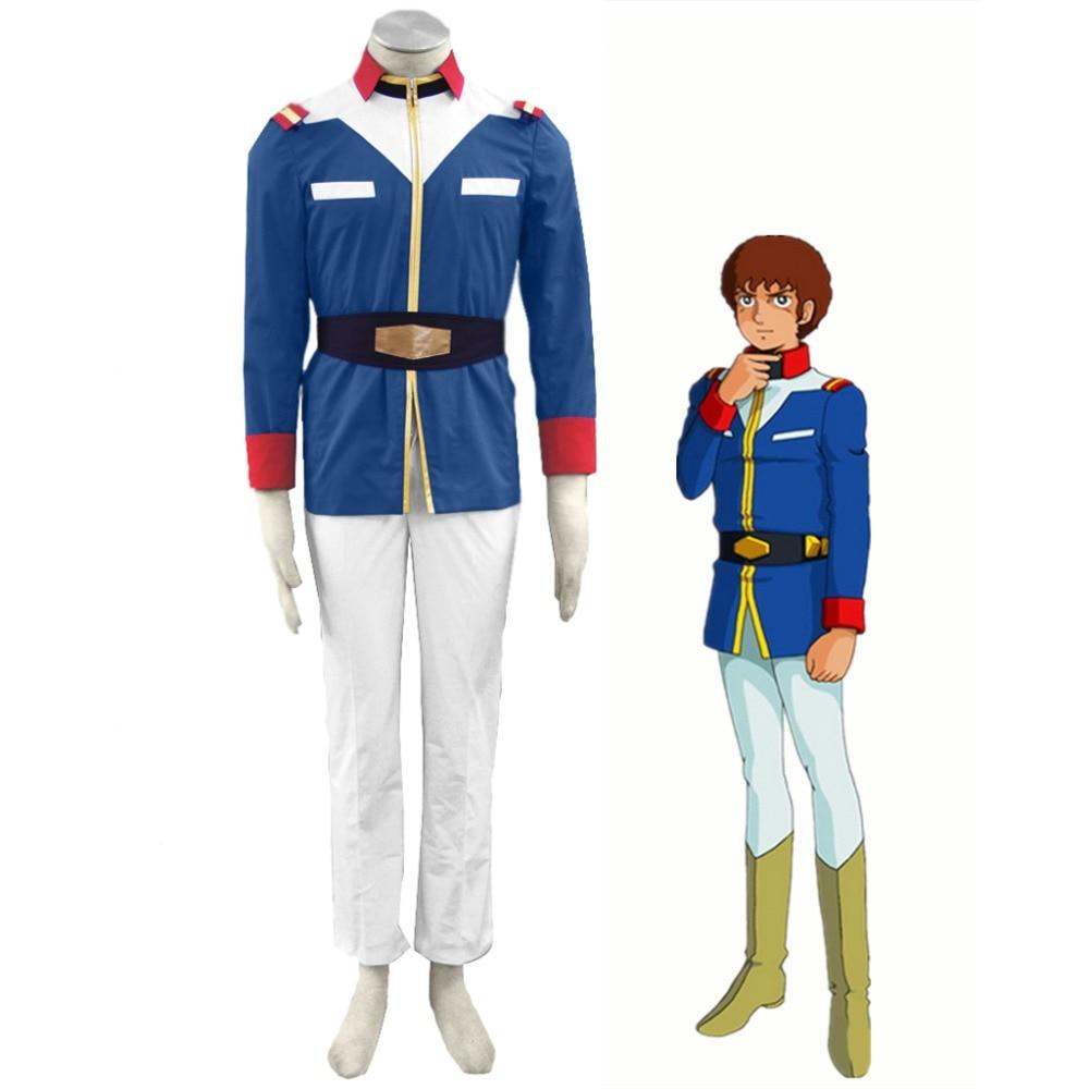 anime mobile suit gundam 0079 cosplay costume amuro ray
