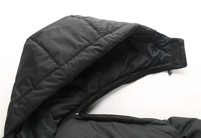 Invierno de 2018 de alta calidad 90% pato blanco abajo chaqueta hombres chaqueta abrigo nieve wellestern parkas hombre caliente ropa de marca abajo de la chaqueta