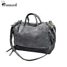 ff731208a Chegam novas Mulheres de Couro Nubuck Bolsa de Ombro Do Vintage Saco Da  Motocicleta bolsa Mensageiro Cross-corpo Sacos de moda S..