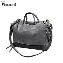New Arrive Women Shoulder Bag Nubuck Leather Vintage Messenger Bag Motorcycle Cross-body Bags fashion leather Women Bag WLHB1203