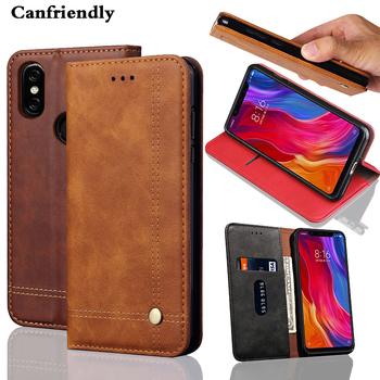 New Luxury For Xiaomi Mi 8 8SE Case Thumb Slide Card Magnetic Leather Flip Wallet Cover Case for Funda Xiaomi Mi8 Mi 8 SE Cases slide wallet