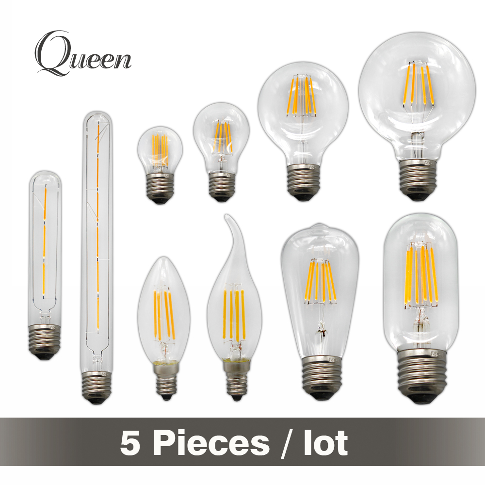 Vintage edison bulb old fashioned lamp classic a60 led 2w or 4w - E14 E27 Led Edison Bulb 2w 4w 6w Vintage Led Filament Bombillas Led Light Retro Glass