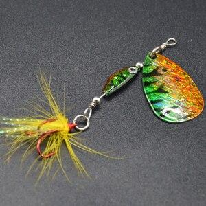 Image 5 - WLDSLURE cuchara giratoria de 6,5g, cebo metálico, señuelo de pesca de lentejuelas, Crankbait, para pesca de lubina, perca de trucha