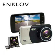 ENKLOV 4 0 Inch Screen Dash Cam HD Night Vision Dual Lens Metal Travel Recorder Reversing