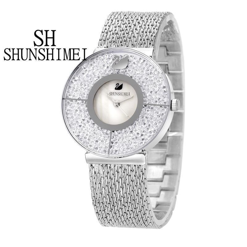 HOT 2016 New Women Luxury Brand Fashion font b Watch b font Gold Steel Ladies Wristwatches