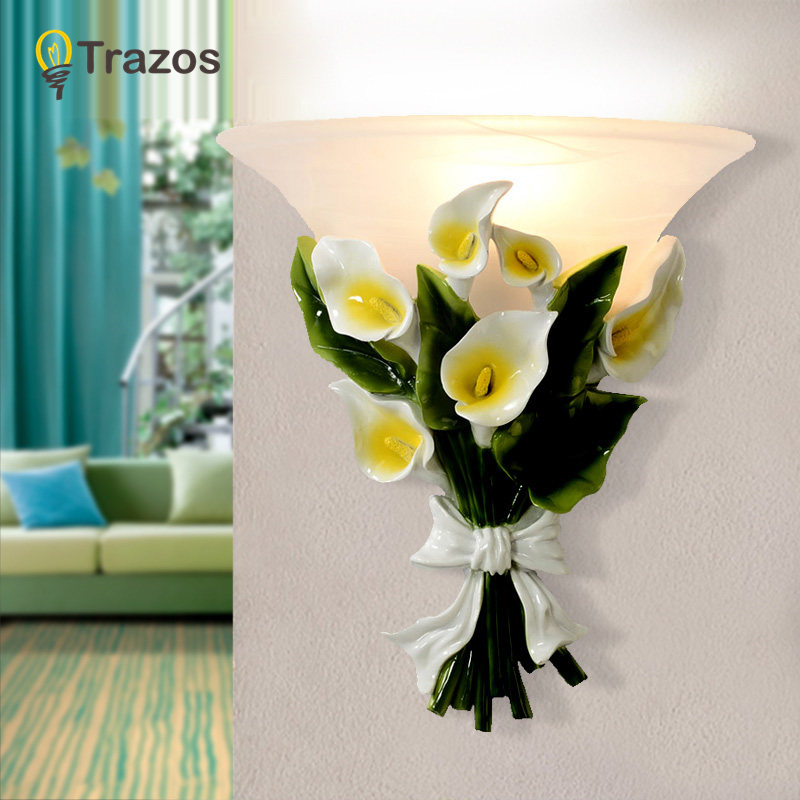 TRAZOS Nordic Resin art wall lamps creative modern bedroom bedside balcony aisle porch hotel cafe wood loft wall lamp light bra fashion nordic living room bedside wall lamp porch balcony porch light solid wood creative light simple black and white