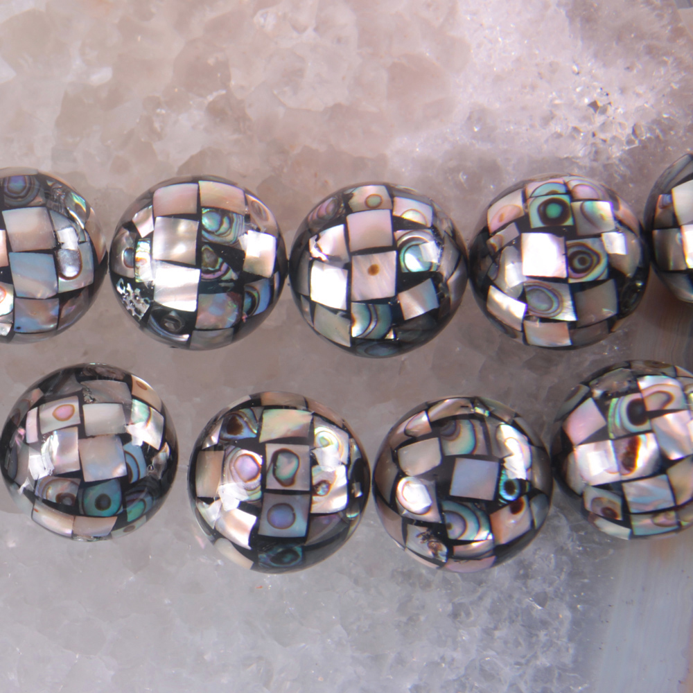 Natural 16MM New Zealand Abalone Shell Round Loose Beads Free Shipping O123