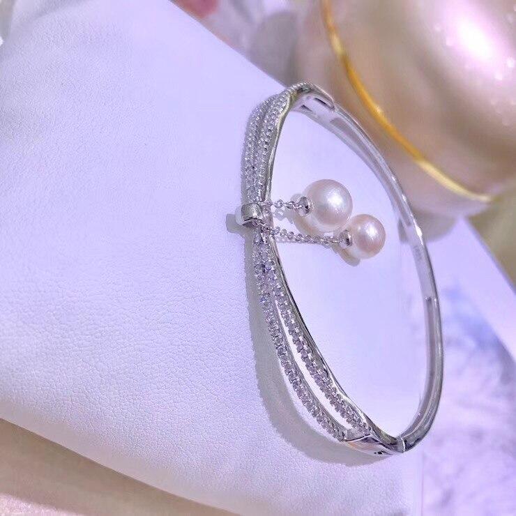 925 Bracelet en argent Sterling perle montures mode beau Bracelet réglable résultats bijoux pièces accessoires accessoires