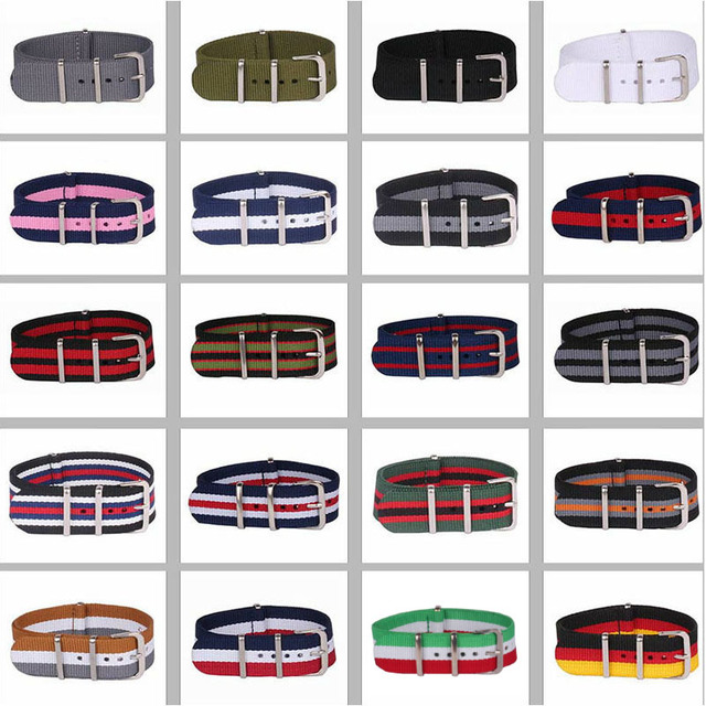 Buy 2 Get 10% OFF) 16/18/20/22/24mm Cambos Stripes Strong nato fabric Nylon Watc
