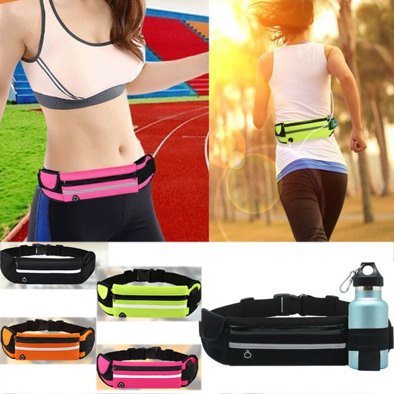 Brand New Dual Pocket Running Belt Phone Pouch Waist Bag Outdoor Sports Travel Fanny Pack Unisex Waist Bags Women Men