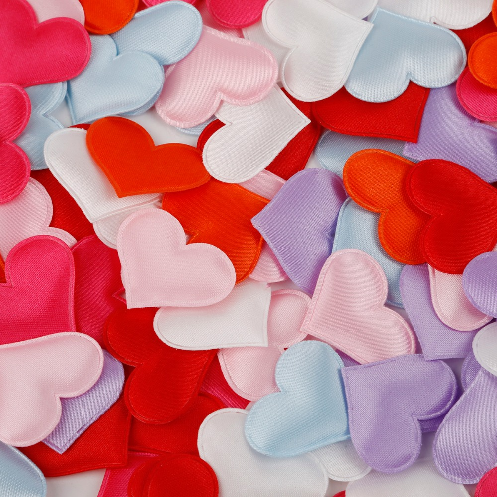100 Pcs 2cm 1.5cm Sponge Heart Shaped Confetti Throwing Petals For Wedding Party Valentine's Gift Home Holiday Decor Decorations
