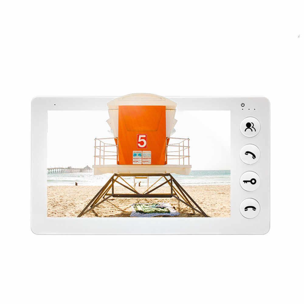 Dragonsview 7 Inch Panggilan Video Pintu Ponsel Intercom Sistem dengan Monitor dan Bel Pintu Camera 960P Rekaman HD Membuka Nada Dering