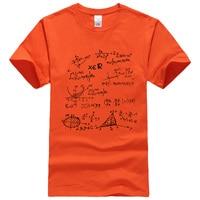 T Shirt 2017 Summer Mathematical Formula Men S T Shirts The Big Bang Theory T Shirt