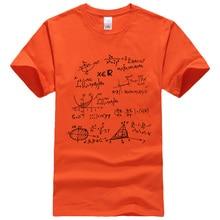 T-shirt 2019 summer Mathematical Formula men's T