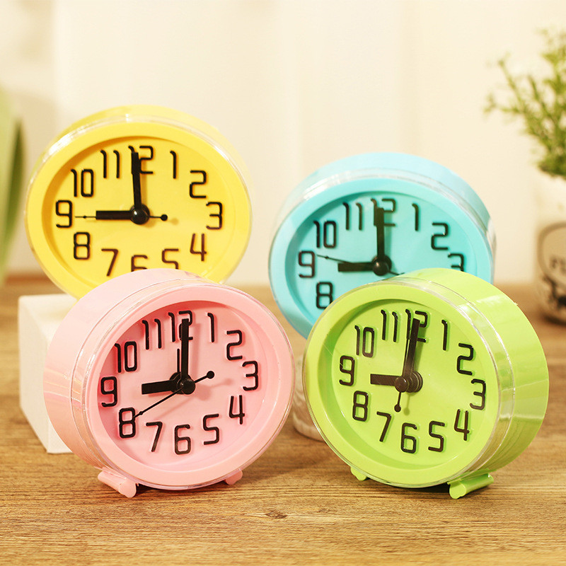 Desktop Decor Children Alarm Clock Quartz Table Clock Modern Timer Snooze Alarm Clock pokemon LED Light Mute Silent Clock