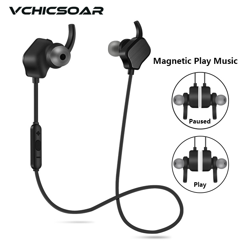 Vchicsoar V3 Bluetooth Earphone with Mic Sport Wireless Headphones V4.1 Stereo Running Noise Reduction Headset for iPhone xiaomi remax bluetooth 4 1 wireless headphones music earphone stereo foldable headset handsfree noise reduction for iphone 7 galaxy htc