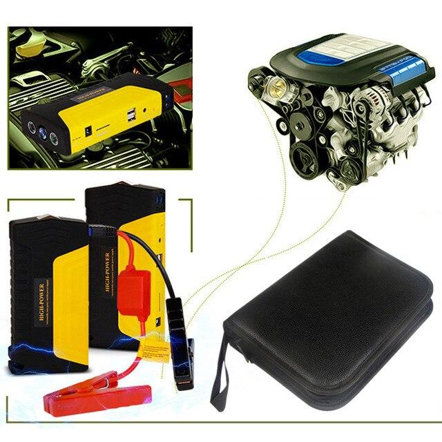 Многофункциональный Автомобиль Скачок Стартер 12 В Зарядное Устройство Аварийного + Мобильный Телефон Ноутбук Power Bank + SOS LED