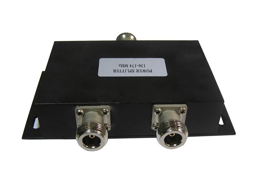 136-174 mhz 2 Façon N-Connecteur Femelle Puissance Splitter pour talkie walkie Noir TC-SP-136-38-2