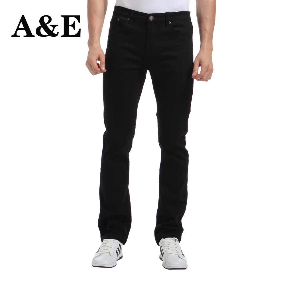 Kalhoty Alice & Elmer Men Stretch Casual Nohavice pro muže Slim Straight Pants Black Pantalones de hombre Jeans para homem