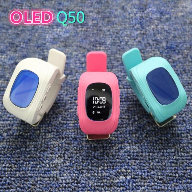 2016 Kid Smart Watch Q50 GPS Location SOS Call Safe Wristwatch Finder Locator Tracker Watch for Kid Child Anti Lost Monitor Baby