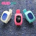 2016 kid smart watch q50 gps localização chamada sos seguro relógio de pulso localizador Localizador Rastreador Relógio para o Miúdo Criança Anti Perdido Monitor Do Bebê
