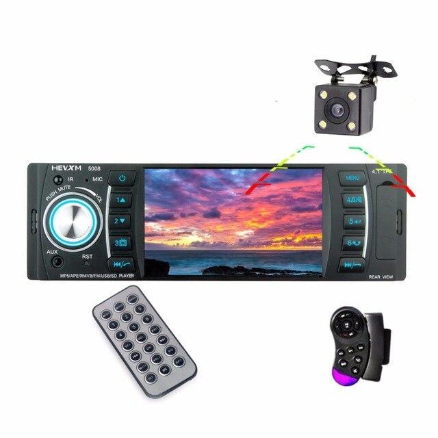 "Fonwoon 4.1"" Car Radio Bluetooth 1 Din Radio Cassette Recorder AUX SD USB MP5 Player Autoradio Stereo Reverse image Mirror Link"