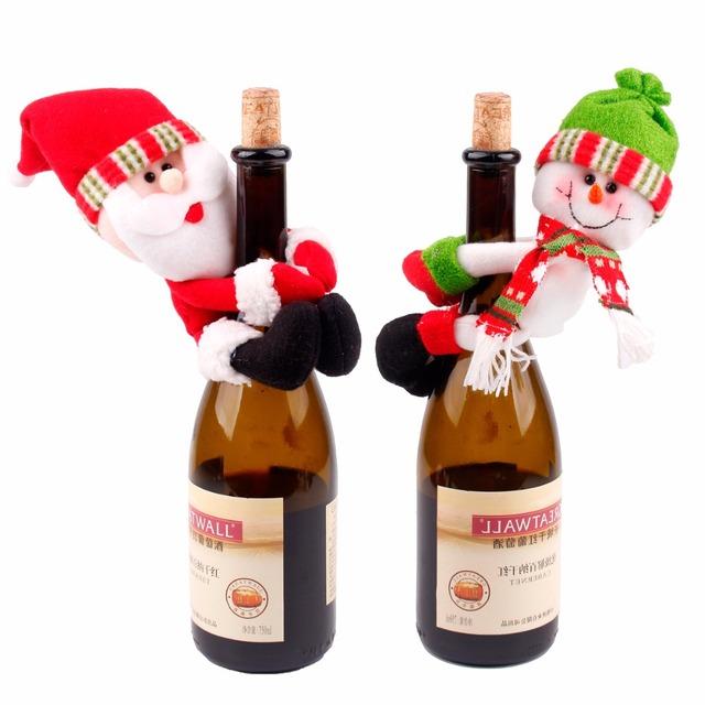 Christmas Themed Wine Bottle Cover
