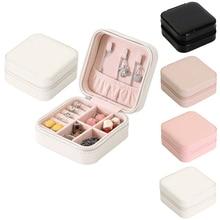Jewelry Box Portable Storage Organizer Zipper Portable Women Display Travel Case juwelendoos