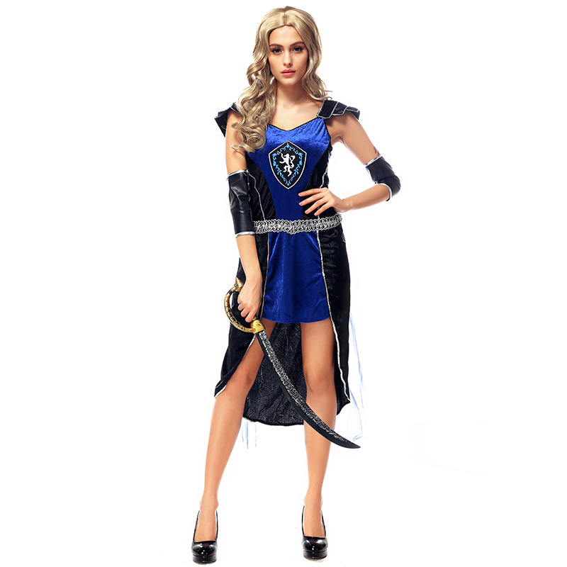 Ancient Roman Greece Greek Female Soldier Warrior Costumes Party Cosplay Deluxe Pirate Halloween Fantasias Costumes