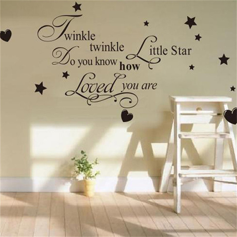 Hot Removable Twinkle Little Star Quote Creative Wall