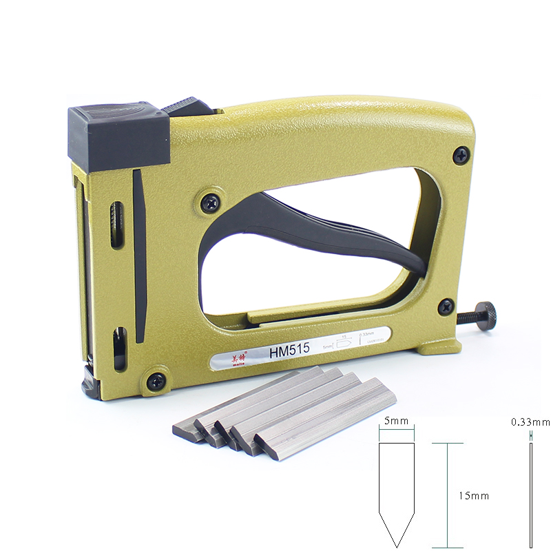 Meite HM515 Frame Gun Nailer With 1000pcs Nails Manual Flex Point Tacker Framing Tools Tacker  Gun Used For Frame Back Fix