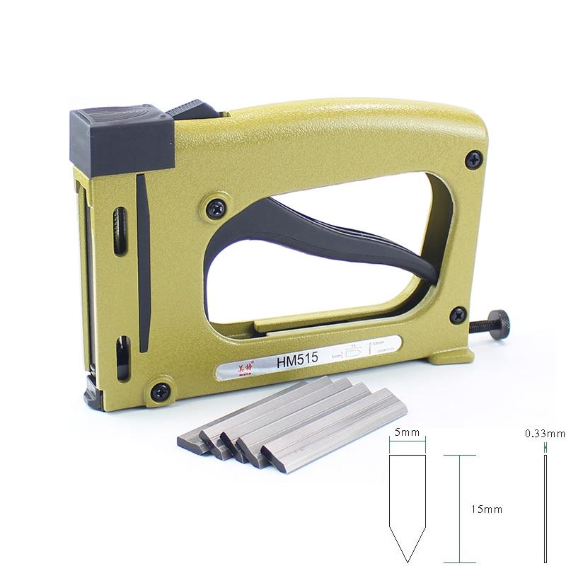 Meite HM515 Frame Gun Nailer With 1000pcs Nails Manual Flex Point Tacker Framing Tools Tacker Gun Used for Frame Back Fix(China)