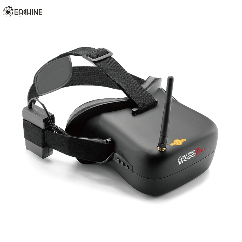 Высокое качество Нибиру VR-007 Pro VR007 5,8 Г 40CH HD FPV очки 4,3 дюймов видео гарнитура с 3,7 В 1600 мАч Батарея для FPV модели