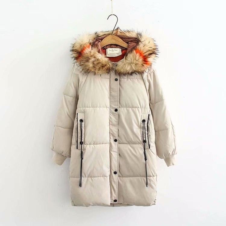 Nouveau 2018 mode chaud hiver veste femmes grande fourrure épais mince femme veste hiver femmes à capuche manteau vers le bas Parkas Long survêtement