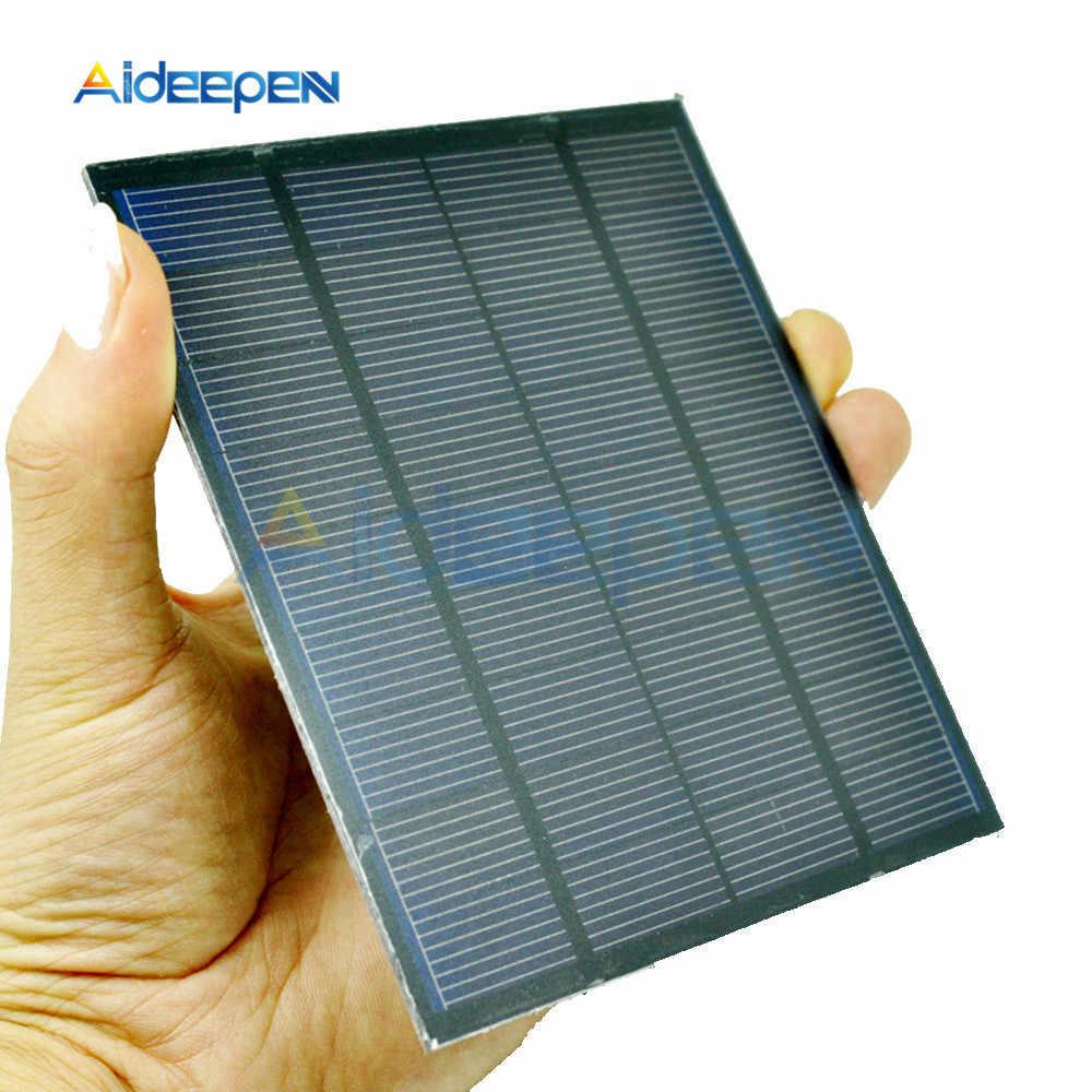 لوحة طاقة شمسية 0.05 واط 0.6 واط 1 واط 1.5 واط نظام الطاقة الشمسية الصغيرة لتقوم بها بنفسك للطاقة الشمسية بطارية خلايا شاحن جوّال 0.5 فولت 6 فولت 9 فولت إضاءة منزلية
