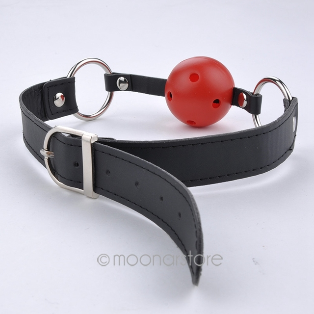 PU Leather Band Ball Mouth Gag Oral Fixation mouth stuffed Adult Games For Couples Flirting Sex Products Toys