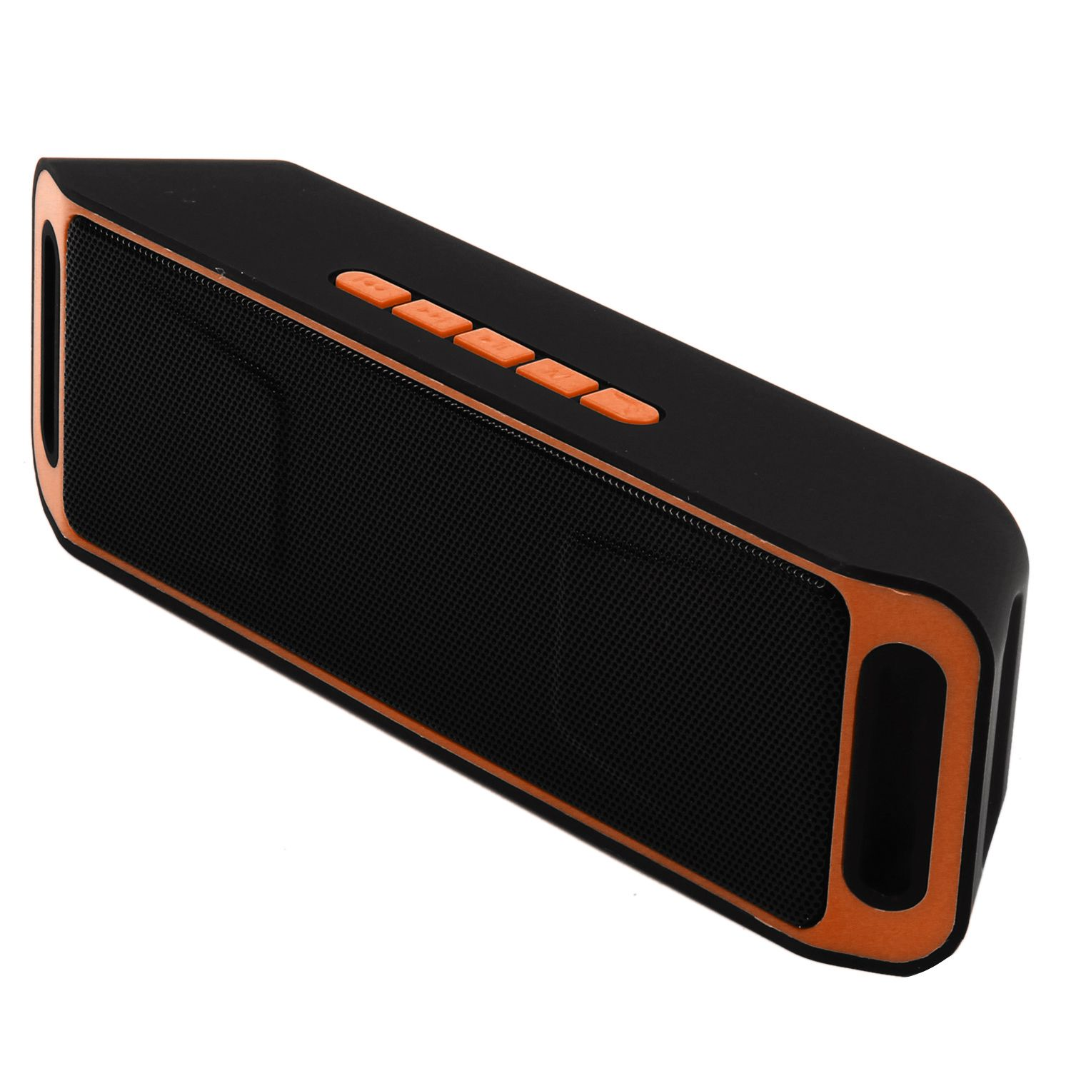 Mini Wireless Bluetooth Speaker USB FM Radio Stereo Super Bass MP3 Player Orange ufo shape portable mini rechargeable bluetooth v2 1 speaker black orange
