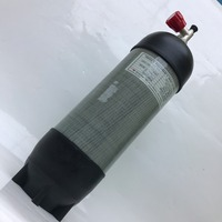 For Fill Gas 4500Psi 300Bar 9LWrapped Carbon Diving Cylinder Paintball SCUBA Fire Equipment Gas Cylinder With
