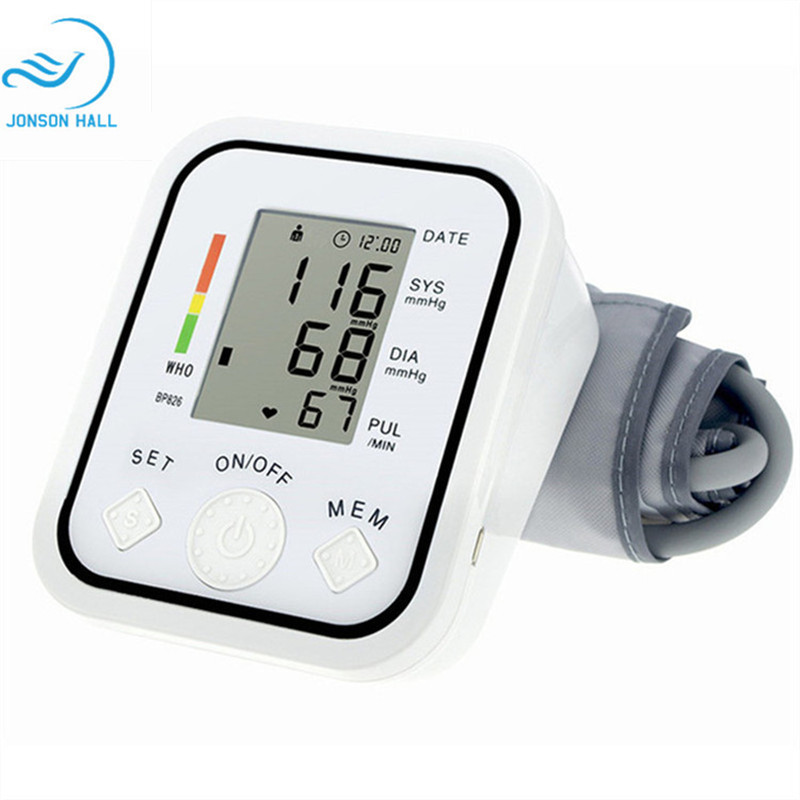 2017 Gesundheitswesen 1 stücke Digital Lcd Oberarm-blutdruckmessgerät Arm-blutdruck-monitor-herz-schlag-messmaschine Tonometer für Mess Automatische