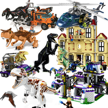 2018 Compatible legoed Jurassic World Sets 4 park 3 Dinosaurs Toys T-Rex Blocks Building Bricks Child boy kids owen pteranodon cheap No eating Self-Locking Bricks 8pcs lot dinosaur toys Certificate 2015152203013770 Unisex AUSINI PLASTIC 6 years old Red blue Yellow orange Grey Brown