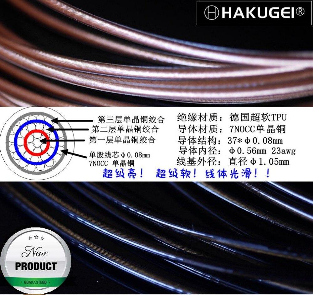 Litz 7N single crystal copper fever headphones upgrade line base inside 23awg OD 1 05mm 6meters