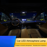 QHCP Car Dashboard Atmosphere Lamp Door Interior Decoration Light Blue Ice Blue Colors For Lexus ES200 260 300H 2018 Car styling