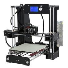 Высокая точность акриловые кадр anet a6/a8 3d комплект принтера reprap prusa i3 3d diy принтер + 8 ГБ sd card + жк-дисплей + нити + очаг