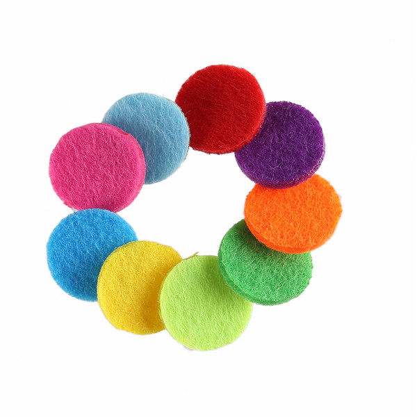 30pcs 17.5mm Felt Pads Colorful Round fabric Circle Fabric Accessories 3mm Thick For Necklace Bracelets DIY Jewelry Making