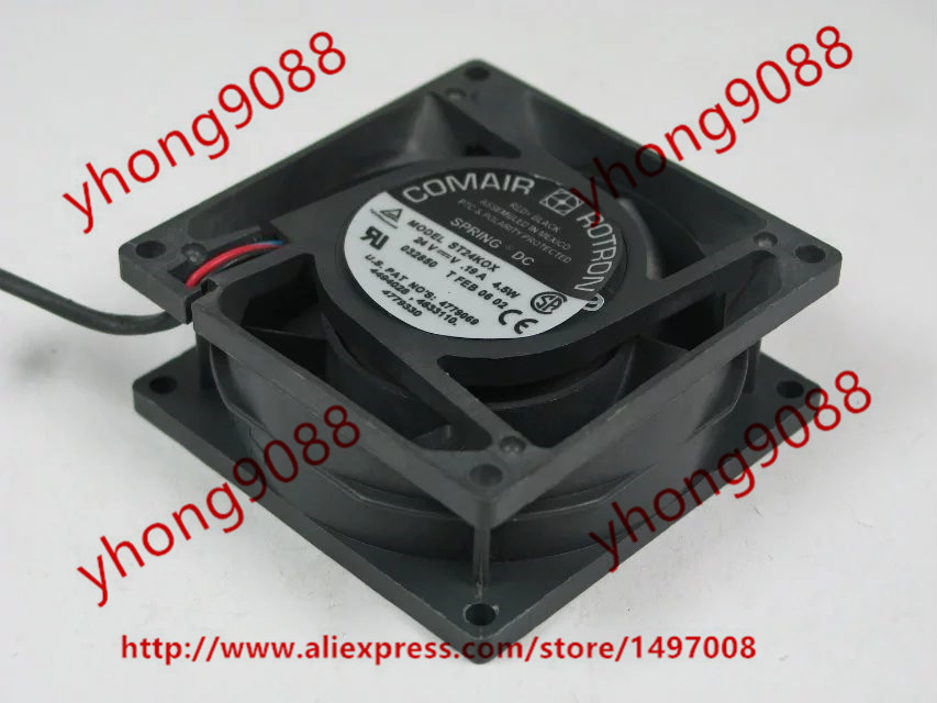 COMAIR ROTRON ST24KOX DC 24V 4.5W 3-wire 80x80x32mm Server Square Cooling Fan free shipping comair rotron fe24b3 80mm 8cm 8025 dc 24v 2 wire cooling fan