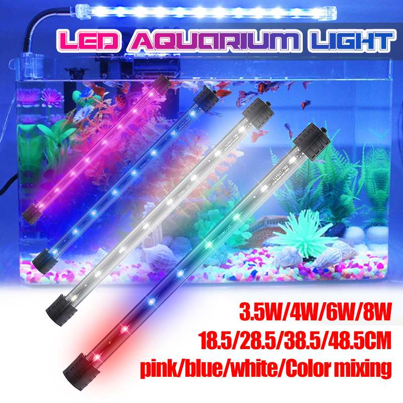 39-112cm Aquarium LED Fish Tank Light Waterproof Submersible Bar Strip Lighting