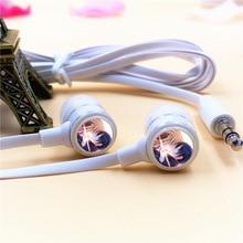 Anime Sword Art Online Kirigaya Kazuto In-ear Earphone 3.5mm Stereo Earbuds Microphone Phone Headset for Iphone Samsung MP3 Gift